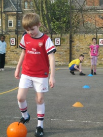Arsenal strip / Tufnell Park school uniform - it's like we were made for each other!