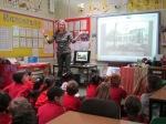 Playground Designer Jackie Herald brainstorms with Ursa class.