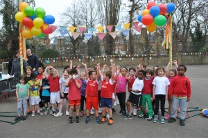 Our first ever Fun Run in 2012: this tiny people are giants now.