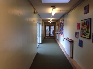 The corridor from the Juniors' classrooms - mmmmm! What's not to love?