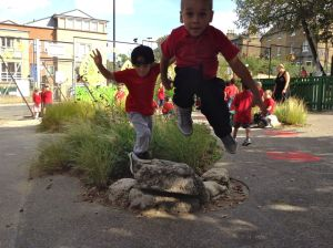 Triumph! Our infants' playground proved good enough for gold.