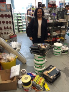 Is there some sort of medal we can give this lovely lady? Look at all those supplies she's helped the school to buy.