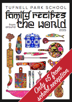Our beautiful school cookbook - 50 glorious recipes from around the world.