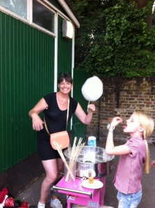 Our fearless testers have proved it: the new candyfloss machine is good to go.