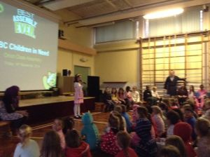 The school has supported Children in Need for years.  In 2014, Orion class did a special assembly about it.