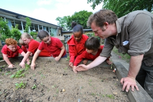 Kids will be gardening all next term - and parents are invited to get in on the action, too.