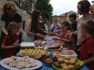 The Orion cake sale last summer - happy days are here again.