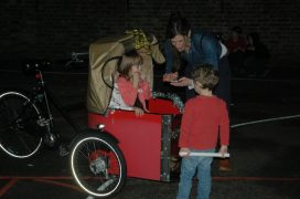 festive wagon ride
