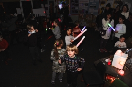 Disco and glowsticks