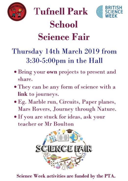 Tufnell Park School Science Fair Poster