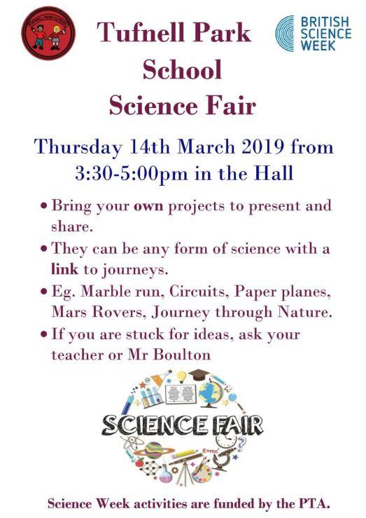 Tufnell Park School Science Fair Poster